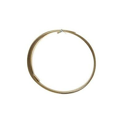Aluminium Wire, W: 15 mm, thickness 0,5 mm, gold, flat, 2m [HOB-518334]