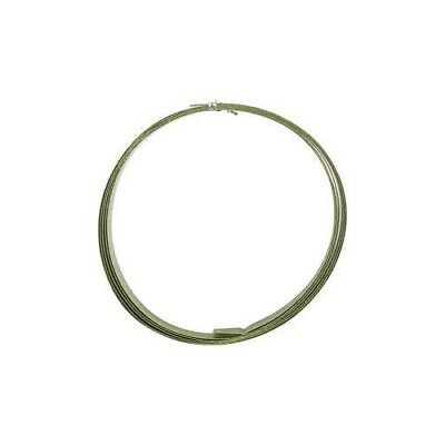 Aluminium Wire, W: 15 mm, thickness 0,5 mm, green, flat, 2m [HOB-518332]