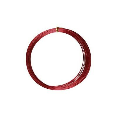 Aluminium Wire, thickness 1 mm, red, round, 16m [HOB-518313]
