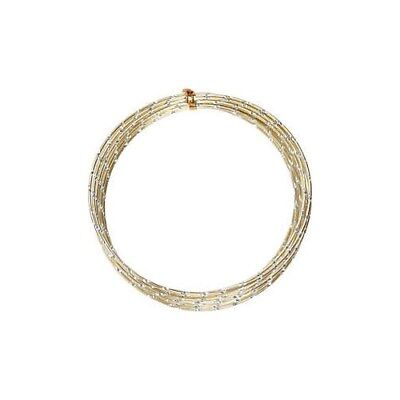 Aluminium Wire, thickness 2 mm, gold, diamond-cut, 7m [HOB-518304]