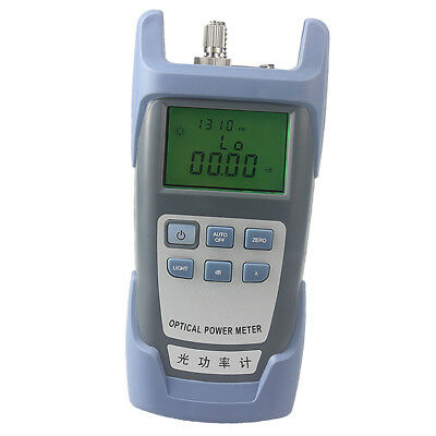 -70dB to +10db Fiber Optical Power Meter Optic Tester SC FC Adapter AUA-9