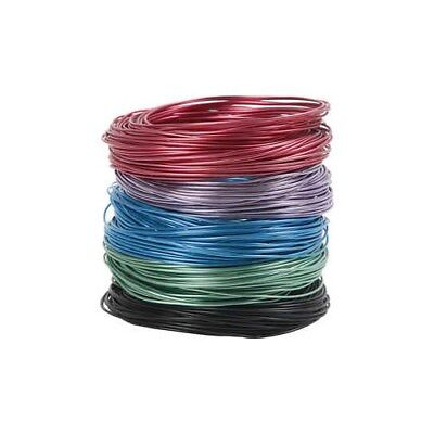 Aluminium Wire, thickness 1,5 mm, asstd colours, 5x20m [HOB-51725]