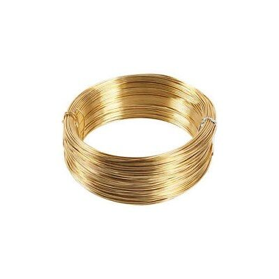 Aluminium Wire, thickness 1,5 mm, gold, round, 100m [HOB-51723]