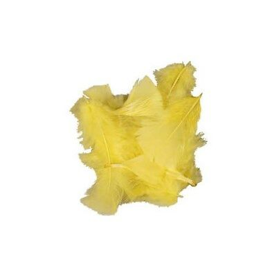 Feathers, size 7-8 cm, yellow, 500g [HOB-51664]