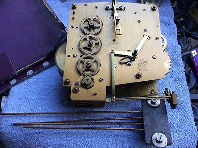 Vintage Westminster Clock Parts, Mechanism, Hands, Chime For Spare And Repair