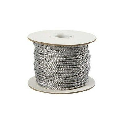 Cord, thickness 2 mm, silver, 50m [HOB-50311]