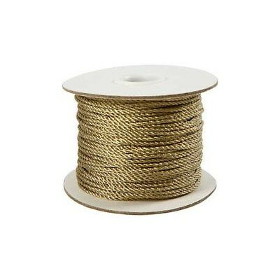 Cord, thickness 2 mm, gold, 50m [HOB-50310]