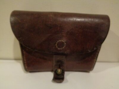 WWII Military Leather Belt Pouch