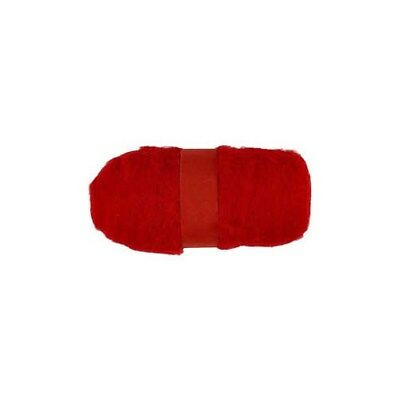 Carded Wool, red, 100g [HOB-451760]