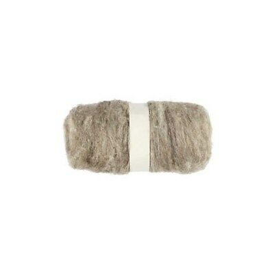 Carded Wool, natural, 100g [HOB-451030]