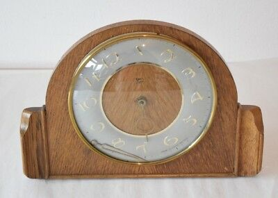Vintage Smiths Wood Cased Mantle Clock - Repair Classic Art Deco