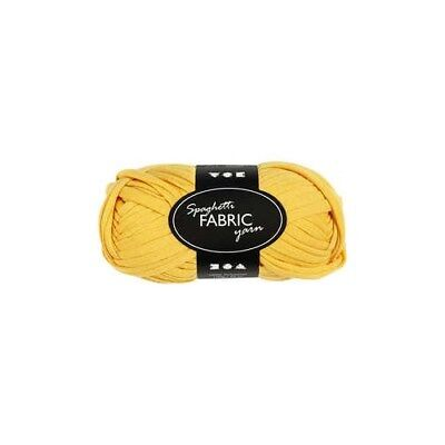 Fabric yarn, L: 35 m, yellow, 100g [HOB-42403]