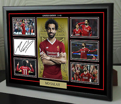 Mo Salah Liverpool Signed Framed A4 A3