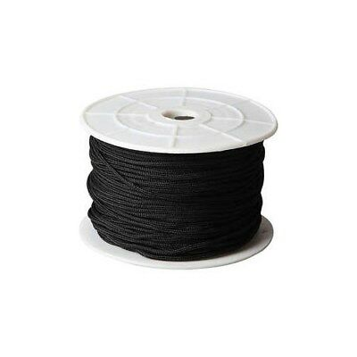 Polyester Cord, thickness 2 mm, black, 50m [HOB-41578]