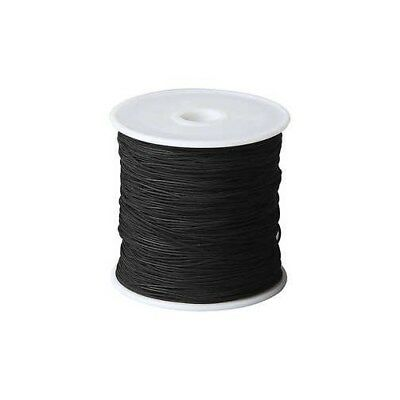 Polyester Cord, thickness 1 mm, black, 50m [HOB-41576]