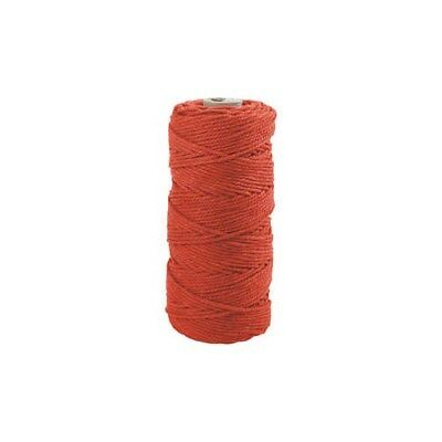 Cotton Twine, L: 100 m, thickness 2 mm, orange, Thick quality 12/36, 225g [HOB-4
