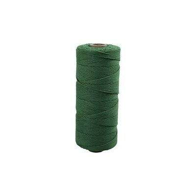Cotton Twine, L: 315 m, thickness 1 mm, green, Thin quality 12/12, 220g [HOB-415