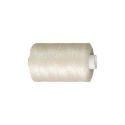 Sewing Thread, off-white, polyester, 1000m [HOB-41214]