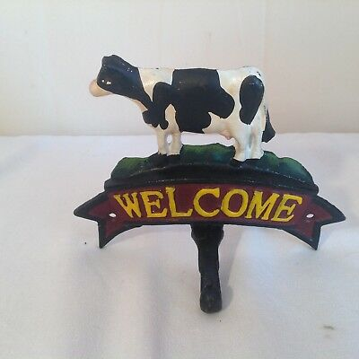 Cast iron Cow Farm Welcome Hook. Please see pictures.