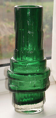 Whitefriars Style GREEN HOOPED VASE