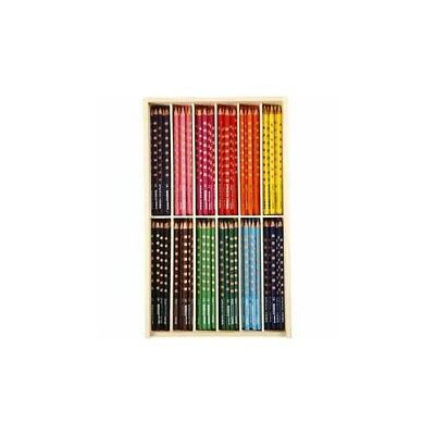 Groove Slim Colouring Pencils, lead: 3,3 mm, L: 18 cm, asstd colours, 144pcs [HO