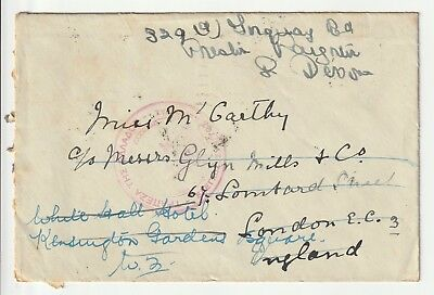 Greece : Corfu Cover to UK - 1939 - Stamps on Back