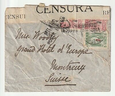 Greece : Cover to Switzerland - Military Censor Cover - Various Stamps