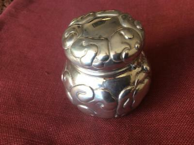 Uncommon Danish Hallmarked Silver Box with Cloud Form Decoration 1913