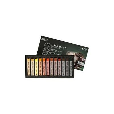 Gallery Soft Pastel Set, thickness 10 mm, L: 6,5 cm, brown, brown tinted, 12pcs