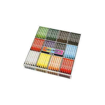 Colortime Wax Crayons, thickness 11 mm, L: 10 cm, asstd colours, 288pcs [HOB-381