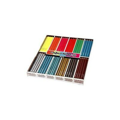 Colortime colouring pencils, lead: 4 mm, asstd colours, Neon+Metallic, 144pcs [H