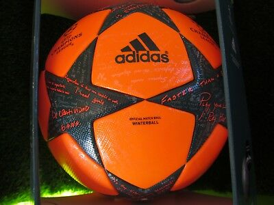 Adidas Matchball Finale Powerorange Champions League 2016 mit Box Winter
