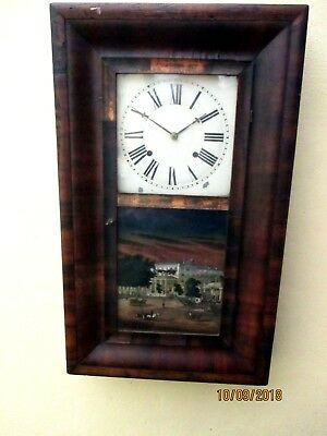 Old American Wall Clock, by E.C. BREWSTER, BRICTOL C.A.