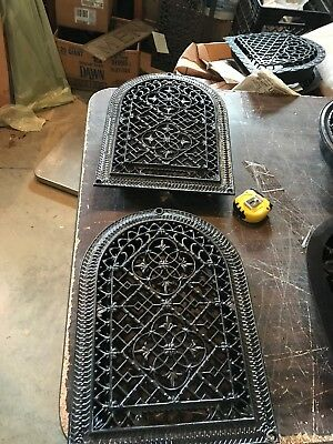 A 5 2 Av Price each antique wall mount arch top heating grate 10 1/8 X 14