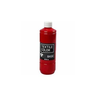 Textile Color Paint, primary red, 500ml [HOB-34155]