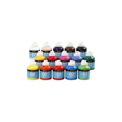 A-Color Acrylic Paint, asstd colours, 02 - matt, 15x500ml [HOB-32100]