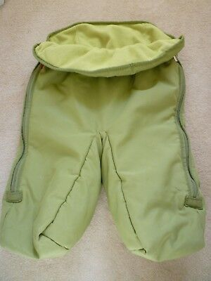 Stokke Xplory Light Green Footmuff-Divided Legs Design-Good Clean Condition