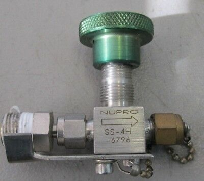 NUPRO SWAGELOK SS-4H Stainless Valves, Tested & Working