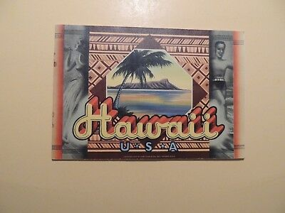 Hawaii U.S.A. travel booklet 1950's Territorial Hawaii color pictures