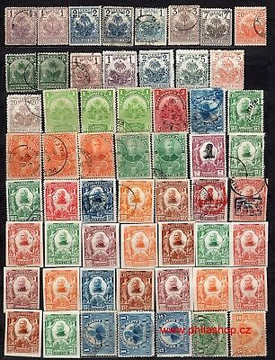 Haiti, 70+ used, MH or Wg stamps