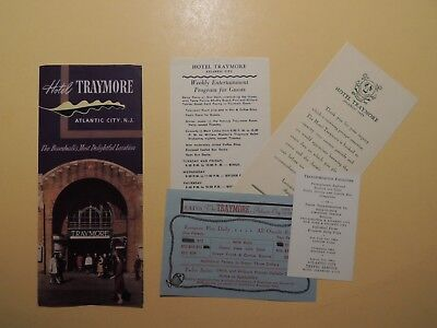 Hotel Traymore Atlantic City New Jersey vintage brochure paper items 1940's