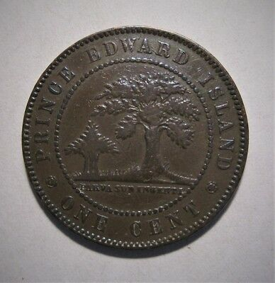 1871 Pei Prince Edward Island  Large Cent Collector Coin -