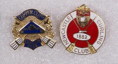 2 Old Curling Club Pins (Copper Cliff, Newcastle)