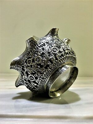 antique rare persian islamic burmese middle eastern solid silver bowl # 70 grams