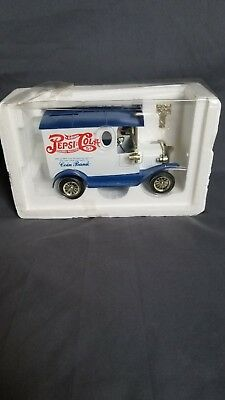 Pepsi Cola Die Cast Coin Bank With Golden Key