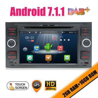 "7"" Autoradio Android For Ford Focus C-Max S-max Fusion Transit Fiesta Galaxy"
