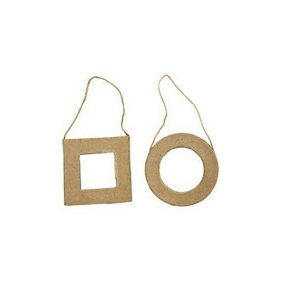 Frames, Square and Round, size 7 cm, 6pcs [HOB-263443]