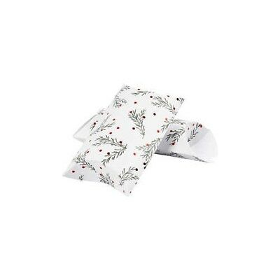 Pillow box, spruce branch with christmas balls, size 23,9x15x6 cm,  300 g, green