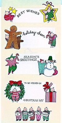 Vintage Bryce & Madeline Stickers - Christmas Labels (5 sheets)