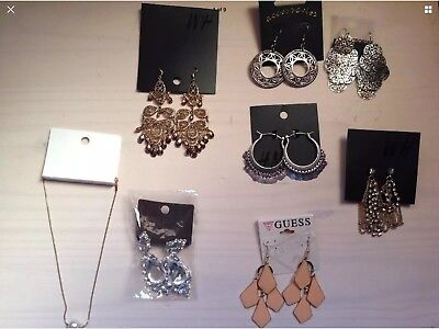 River Island.  Guess. Accessorise. H&M. Earrings Jewelry Job Lot